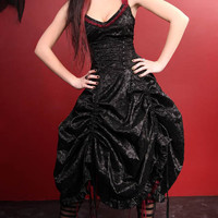 Living Dead Souls Satin Tulle Dress :: VampireFreaks Store :: Gothic Clothing, Cyber-goth, punk, metal, alternative, rave, freak fashions