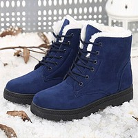 Snow boots winter ankle boots women shoes plus size shoes fashion heels winter boots fashion shoes
