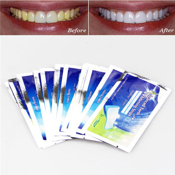 MOONBIFFY 28 pcs/14 Set Professional Teeth Whitening Strips Tooth Bleaching Whiter Whitestrips Set Dental Care Free Shipping
