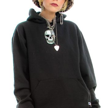 Vintage 90's Skull Hoodie - One Size Fits Many