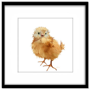 Printable Nursery Art, Easter Chick Instant Download, Print Your Own Art and Cards, Kids Wall Art