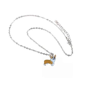 New Lovely Welsh Corgi Dog Pendant Necklace Pet Charm Best Friends Christmas Gifts Bracelets For Wamen Friendship Bracelets DIY