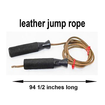 leather jump rope 94 1/2 inches long