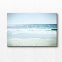 large canvas art beach photography canvas 12x12 24x36 ocean canvas wrap fine art photography nautical decor beach canvas wrap coastal canvas