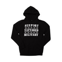 Guys Steadfast Support Tattooed Military Hoodie