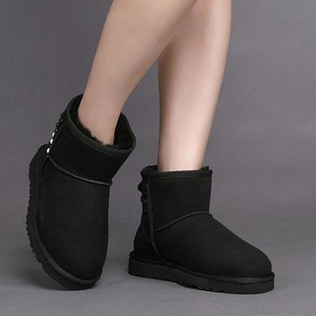 ESBON UGG 1019034 Waterproof Gradient Pearl  Women Men Fashion Casual Wool Winter Snow Boots Black