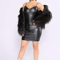 Stay In Touch Faux Fur Jacket - Black