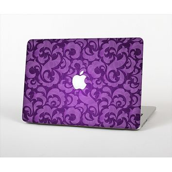The Purple Bright Lace Pattern Skin Set for the Apple MacBook Pro 13""
