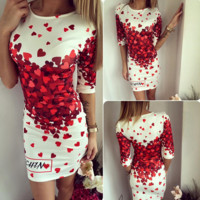 Hearts Flower Printed Dress
