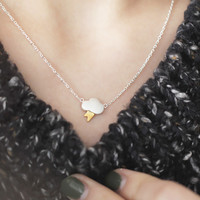 Mini Lightning Cloud Necklace