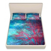 Artistic Decorative Designer Unique Bed Sheets | Sylvia Cook's Abstract Tree II