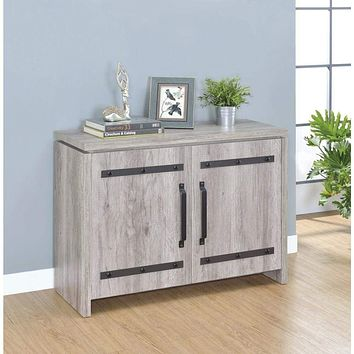 Spacious Wooden Accent Cabinet, Gray By Coaster