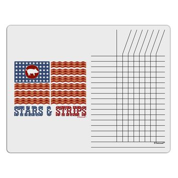 American Bacon Flag - Stars and Strips Chore List Grid Dry Erase Board