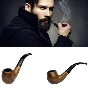 DCCKL72 New Retro Vintage Wooden Enchase  Smoking Pipe Tobacco Cigarettes Cigar Pipes Gift Durable Free Shipping