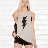 Lightening Bolt Muscle Tee
