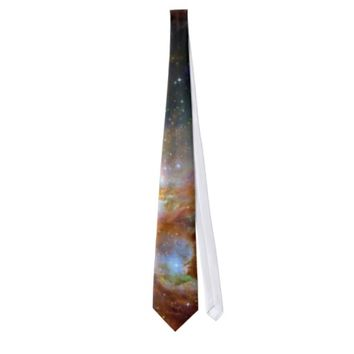 Orion nebula NASA orange starry sky Neck Ties