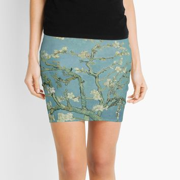 'Almond Blossom Van Gogh' Mini Skirt by JoieDesigns