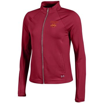 IOWA STATE UNIVERSITY CYCLONES ISU Under Armour UA Womens Full Zip Fleece Jacket