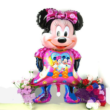 Large Size 116x58cm Mickey Minny Mouse Foil Balloons Cartoon Globos Birthday Decoration Wedding Party Inflatable Air Balloons