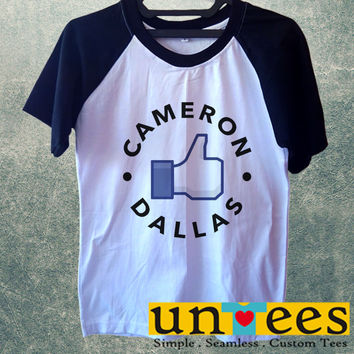 Like Cameron Dallas Short Raglan Sleeves T-shirt