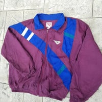 Vintage 80s/90s Pony Wind Breaker Zip Up Jacket | Adult XL | Retro 1980s | TUFF