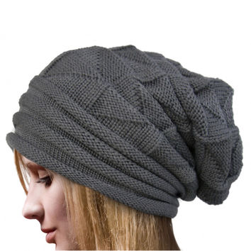 Fashion Bonnet Femme Women Winter Hat Female Winter Beanie Crochet Hat Knit Warm Women Caps