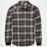 Lrg Krule Mens Flannel Shirt Black  In Sizes