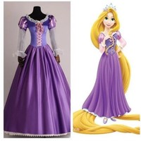 Brand new princess Rapunzel Halloween sexy S-XXL Women Adult  party Costume Cosplay  fancy dress carnival role-playing
