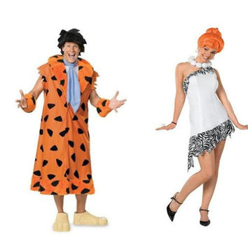 Fred & Wilma Flintstone Adult Couples Costume