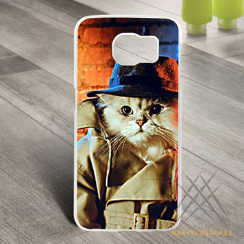 Detective Cat Custom case for Samsung Galaxy