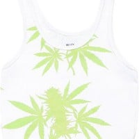 Women's Mary Crop Top - White