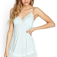 Dots & Lace Sleep Romper