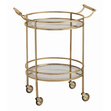 Arteriors Home Wade Wade Antique Brass/Glass Bar Cart - Arteriors Home 6752