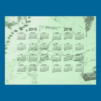 Old Green Paint 2 Year 2015-2016 Wall Calendar Print from Zazzle.com