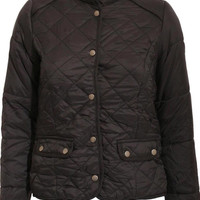 Emmy Quilted Jacket in Black