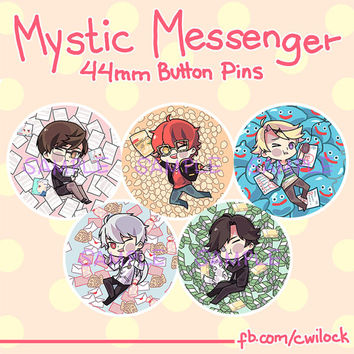 Mystic Messenger 44mm button pins