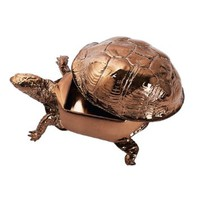 Box Turtle Box in Bronze Chrome by Areaware - Pop! Gift Boutique