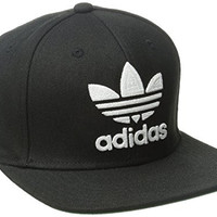adidas Mens Men's originals snapback flatbrim cap, Thrasher Design/Black/White, One Size