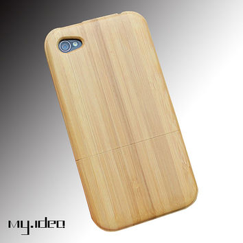Mymade natural bamboo iphone 4 4s case,  bamboo iphone case, wood case, iphone cover, gift, iphone4 case, iphone 4s case
