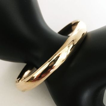 Hinged Rose Gold Filled Bangle Art Deco Etched Floral Swag Design Antique Vintage Early 1900s Signed 120 GOLD SHELL R.M.Co. Gift For Her