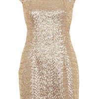 Sequin Cutout Mini Dress - Bodycon Dresses - Dresses - Clothing - Topshop USA