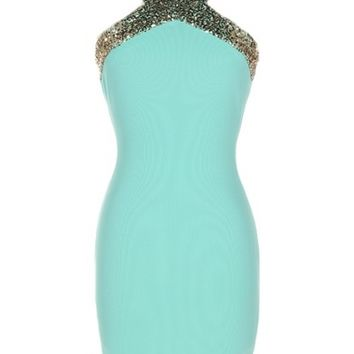 Open Back Bodycon Dress - Kely Clothing