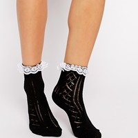 ASOS Socks With Lace Trim
