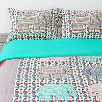 Magical Thinking Elephant-Stamp Sham Set- Blue One