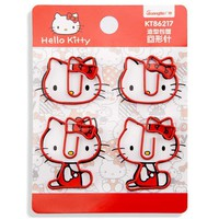 4 pcs/pack Hello Kitty Cartoon Metal Paper Clip Bookmark Stationery School Office Supply Escolar Papelaria