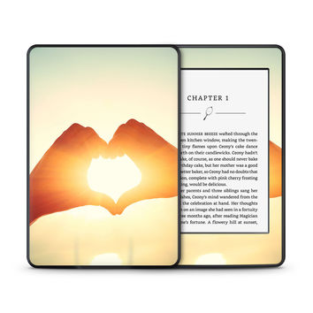 Hand Shaped Heart Sunbeam Skin for the Amazon Kindle Tablet