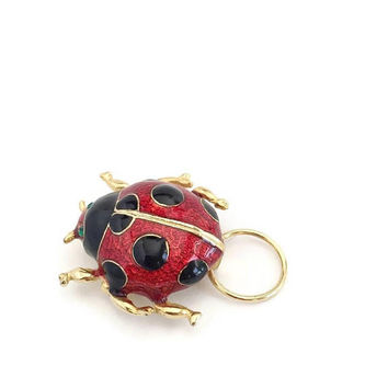 Lady Bug ID Holder Brooch, Eye Glass Holder Brooch, Pin on Holder for Glasses, Ladybird ID Brooch, Ladybug Gifts, Gifts for Teacher CoWorker