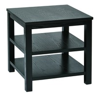 """Office Star Black Merge 20"""" Square End Table"""