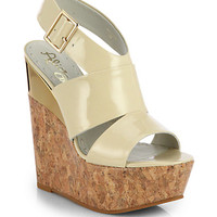 Shayla Patent Wedge Sandals