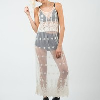 Lacey Mesh Overlay Dress